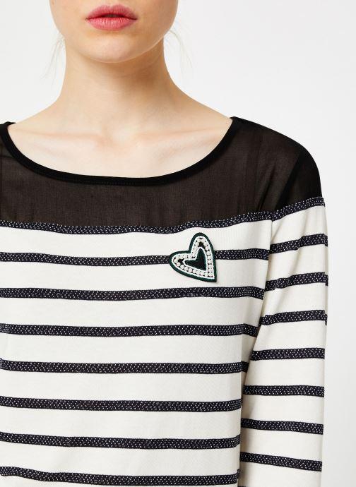 Vêtements I.Code Tee-Shirt Raye QP10134 Noir vue face