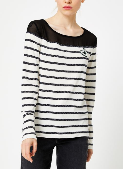 Vêtements I.Code Tee-Shirt Raye QP10134 Noir vue droite