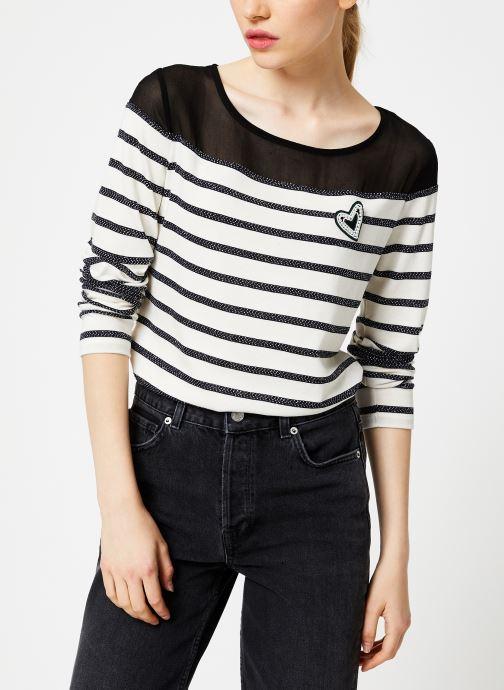 Vêtements I.Code Tee-Shirt Raye QP10134 Noir vue détail/paire