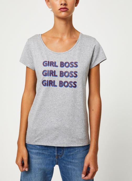 Vêtements I.Code Tee-Shirt  Girl Boss QP10154 Gris vue droite