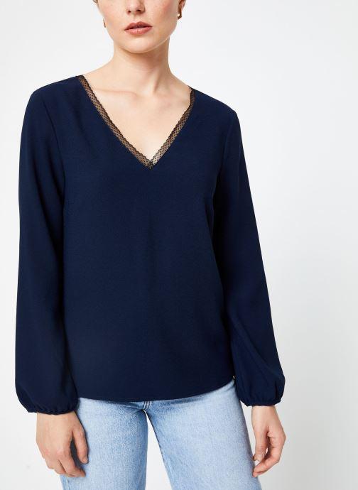 Vêtements I.Code Top Noue Au Dos QP11084 Bleu vue droite