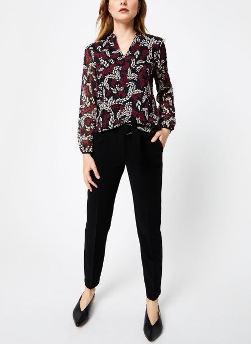 Vêtements I.Code Top Feuillage QP11284 Bordeaux vue bas / vue portée sac