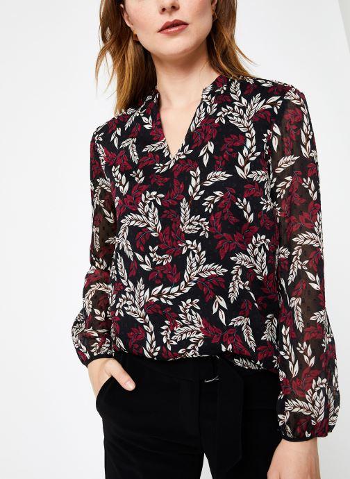 Vêtements I.Code Top Feuillage QP11284 Bordeaux vue détail/paire