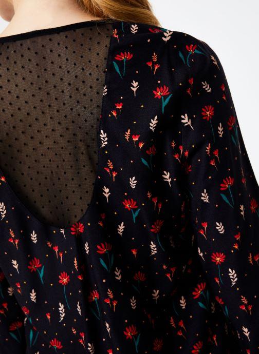 Vêtements I.Code Top Fleuri QP11294 Noir vue face