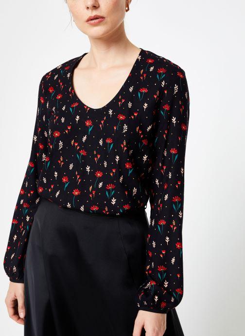Vêtements I.Code Top Fleuri QP11294 Noir vue détail/paire
