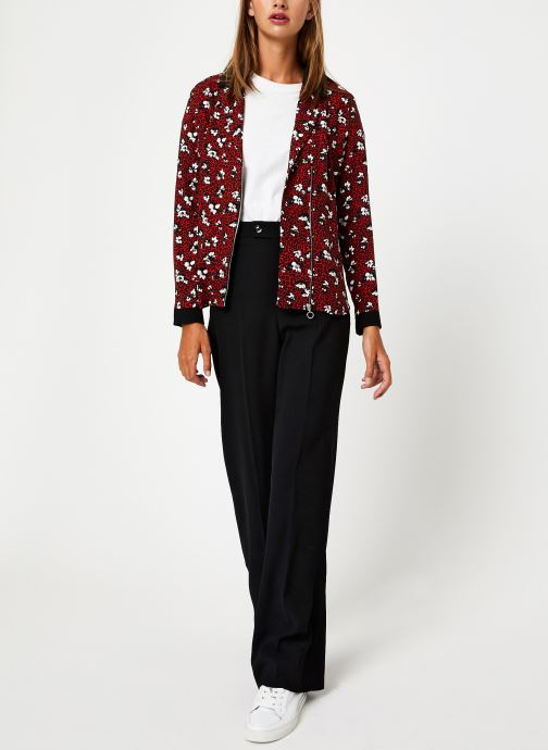 Vêtements I.Code Chemise Leopard QP12104 Rouge vue bas / vue portée sac