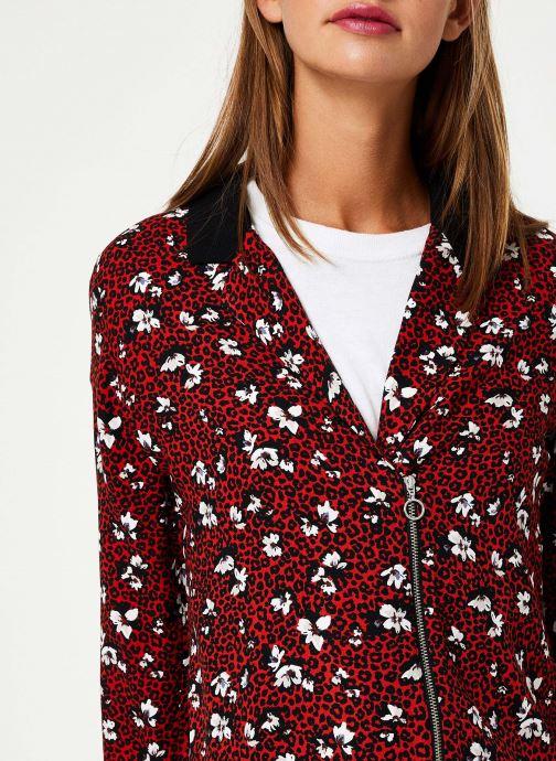 Vêtements I.Code Chemise Leopard QP12104 Rouge vue face
