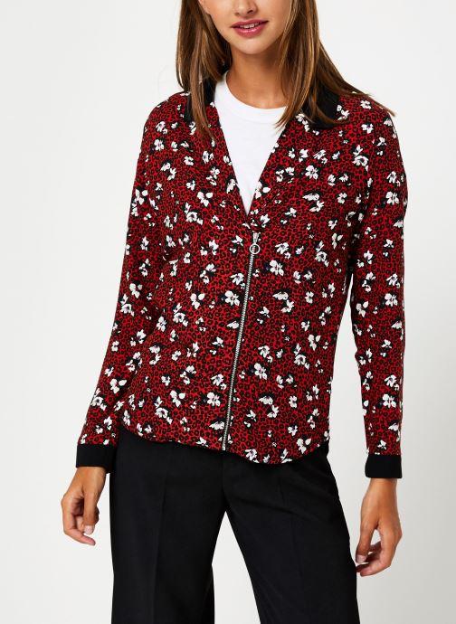 Vêtements I.Code Chemise Leopard QP12104 Rouge vue droite