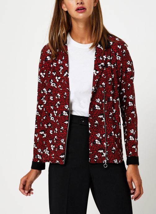 Vêtements I.Code Chemise Leopard QP12104 Rouge vue détail/paire