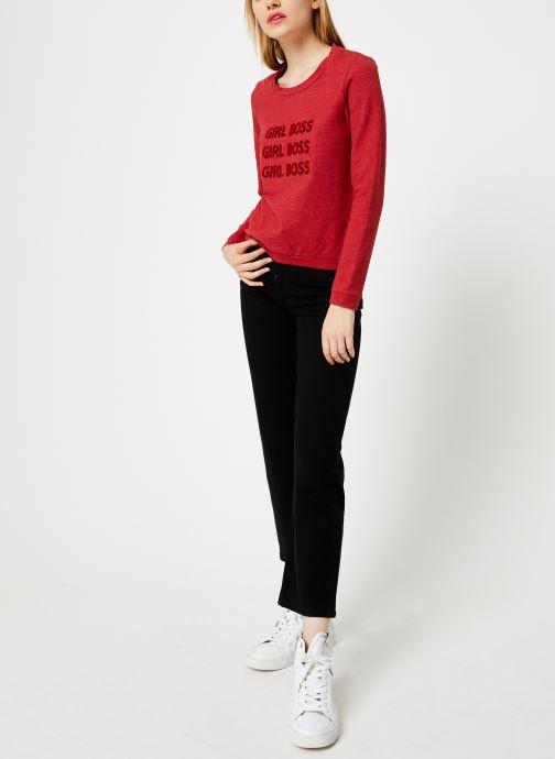 Vêtements I.Code Sweat Rouge Girl Boss QP15004 Rouge vue bas / vue portée sac