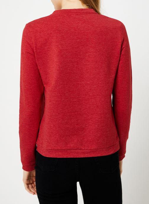 Vêtements I.Code Sweat Rouge Girl Boss QP15004 Rouge vue portées chaussures