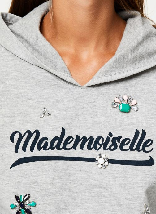 Vêtements I.Code Sweat Mademoiselle Gris QP15014 Gris vue face