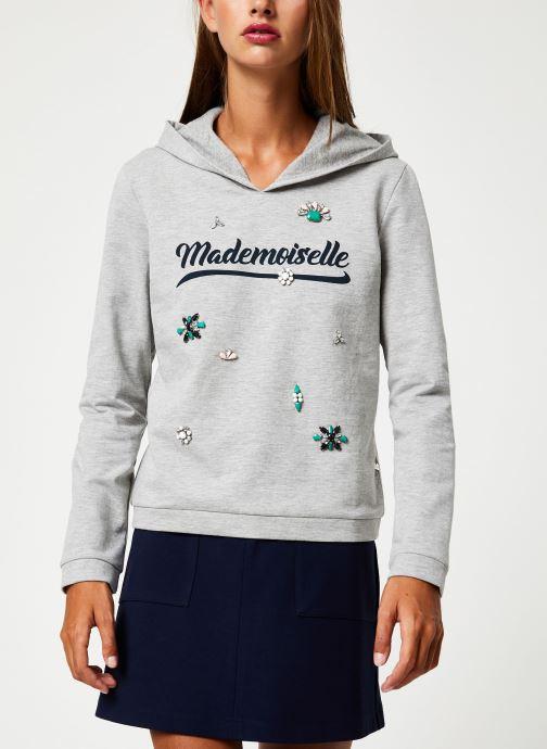 Tøj I.Code Sweat Mademoiselle Gris QP15014 Grå Se fra højre