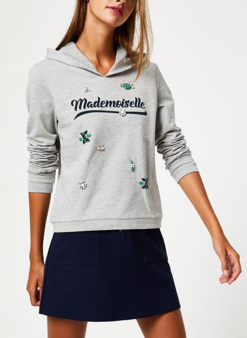 Kleding I.Code Sweat Mademoiselle Gris QP15014 Grijs detail