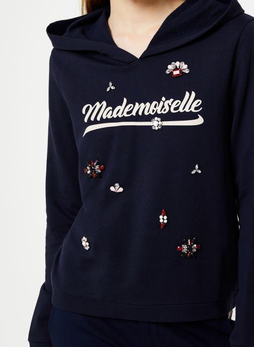Vêtements I.Code Sweat Mademoiselle Marine QP15014 Bleu vue face