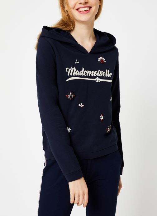 Vêtements I.Code Sweat Mademoiselle Marine QP15014 Bleu vue droite