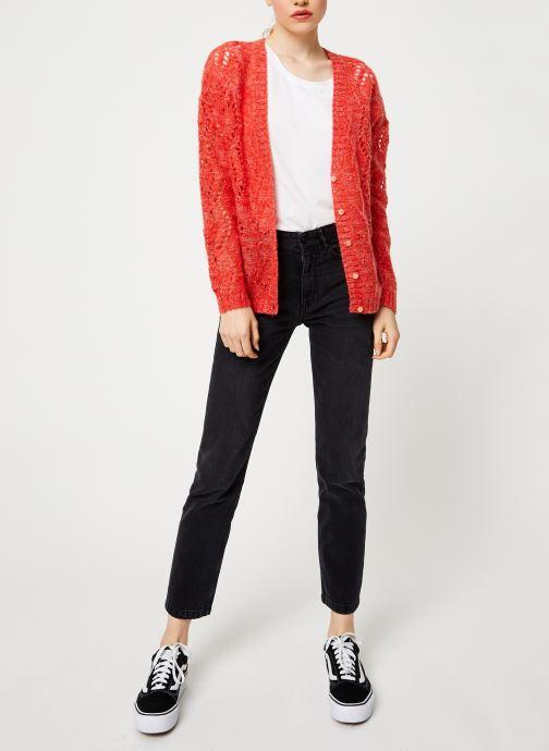 Vêtements I.Code Cardigan Reversible Paprika QP17004 Jaune vue bas / vue portée sac
