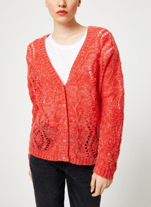 Vêtements I.Code Cardigan Reversible Paprika QP17004 Rose vue droite