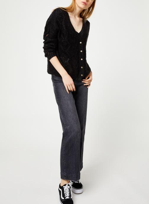 Vêtements I.Code Cardigan Reversible QP17004 Noir vue bas / vue portée sac