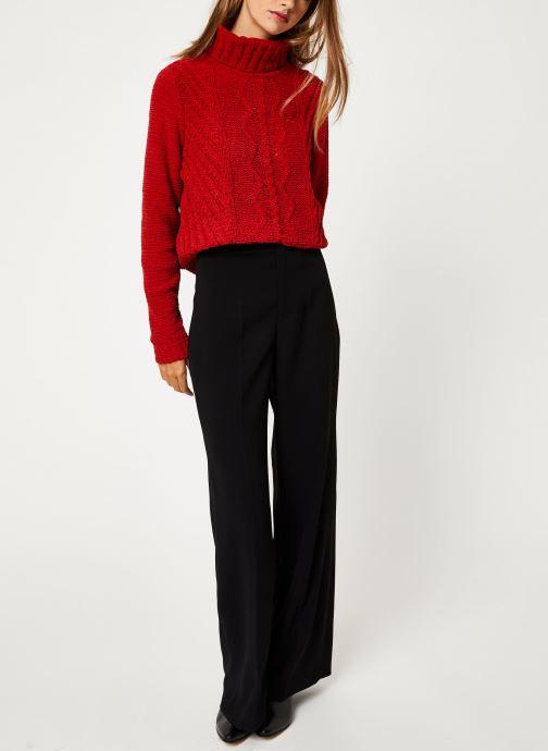 Vêtements I.Code Pull Col Montant QP18094 Rouge vue bas / vue portée sac
