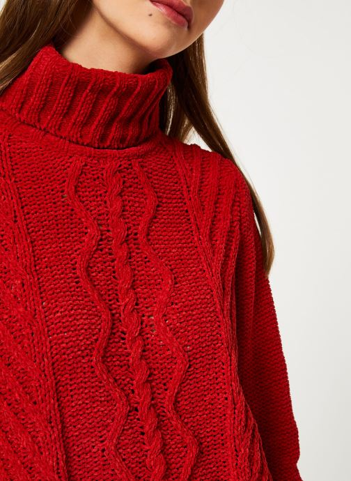 Vêtements I.Code Pull Col Montant QP18094 Rouge vue face