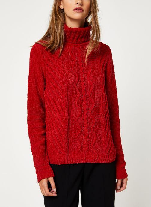Vêtements I.Code Pull Col Montant QP18094 Rouge vue droite