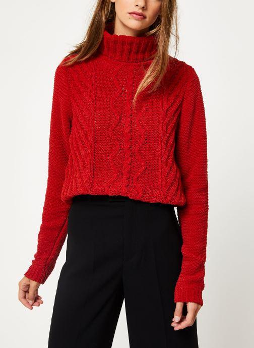 Vêtements I.Code Pull Col Montant QP18094 Rouge vue détail/paire