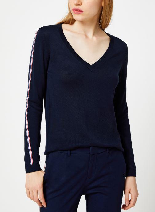 Vêtements I.Code Pull Bandes Couleur QP18124 Bleu vue détail/paire