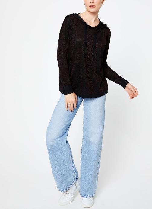 Vêtements I.Code Pull Capuche Cherry QP18134 Rouge vue bas / vue portée sac