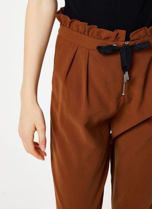 Vêtements I.Code Pantalon Carrot Camel QP22034 Marron vue face