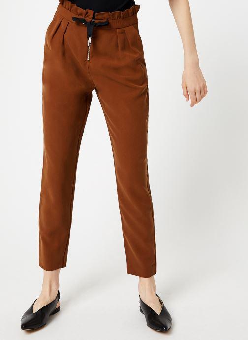 Vêtements I.Code Pantalon Carrot Camel QP22034 Marron vue détail/paire