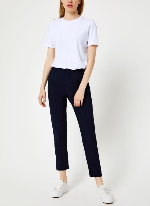 Vêtements I.Code Pantalon City Marine QP22084 Bleu vue bas / vue portée sac