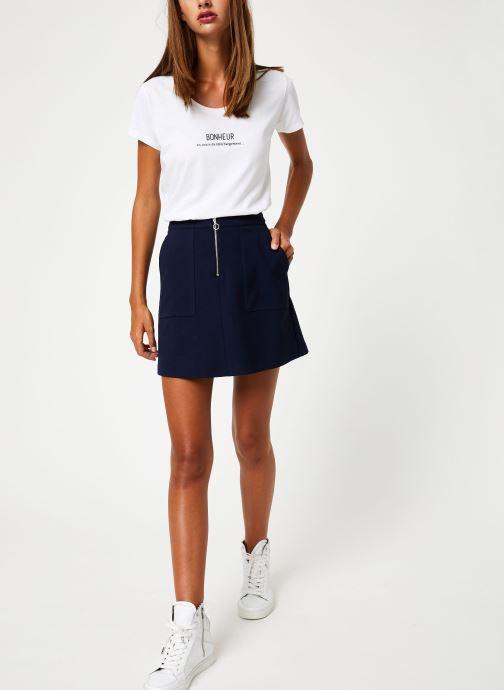 Vêtements I.Code Jupe Marine QP27014 Bleu vue bas / vue portée sac