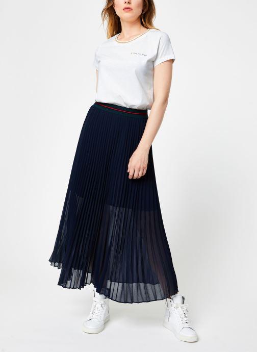 Vêtements I.Code Jupe Longue Plissee QP27034 Bleu vue bas / vue portée sac