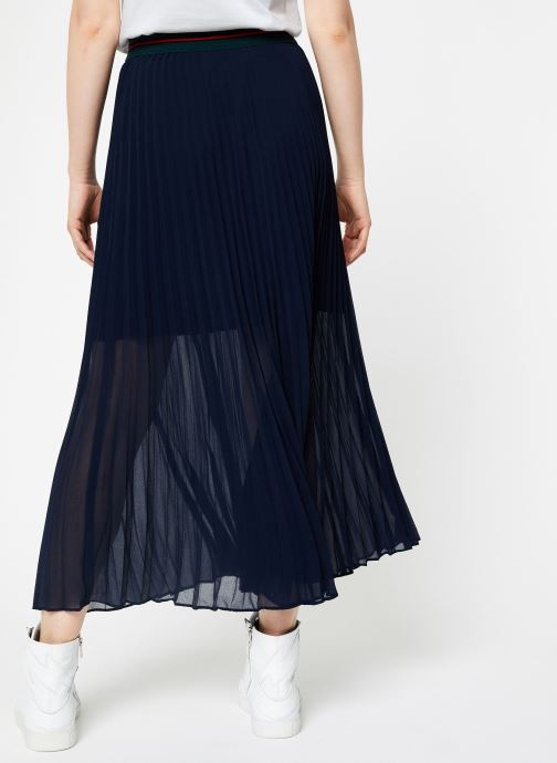 Vêtements I.Code Jupe Longue Plissee QP27034 Bleu vue portées chaussures