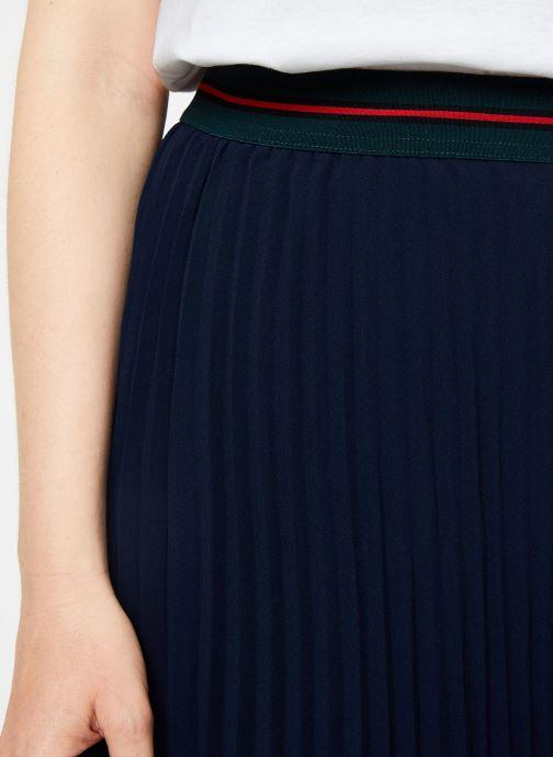 Vêtements I.Code Jupe Longue Plissee QP27034 Bleu vue face