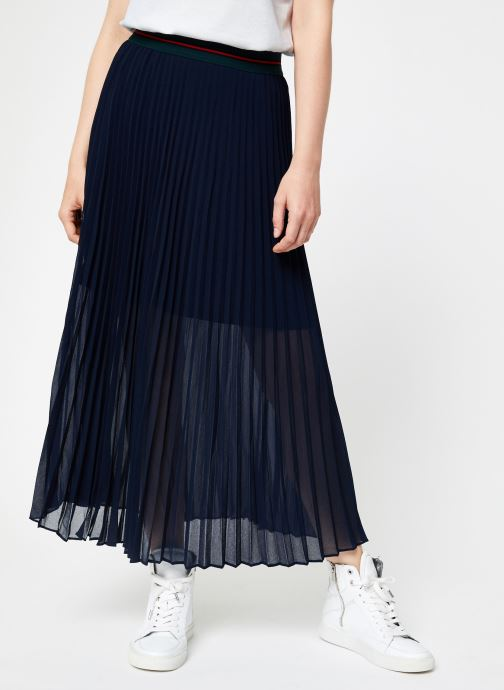 Vêtements I.Code Jupe Longue Plissee QP27034 Bleu vue détail/paire