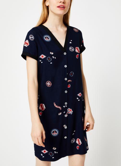 Vêtements I.Code Robe Imprimee QP30004 Bleu vue droite