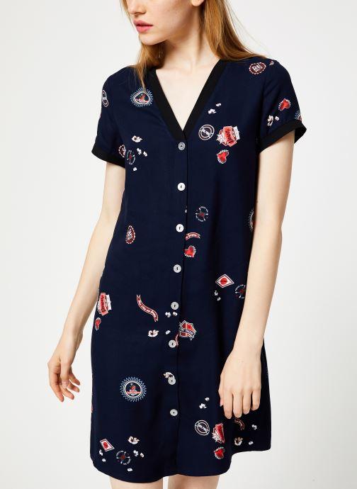 Vêtements I.Code Robe Imprimee QP30004 Bleu vue détail/paire