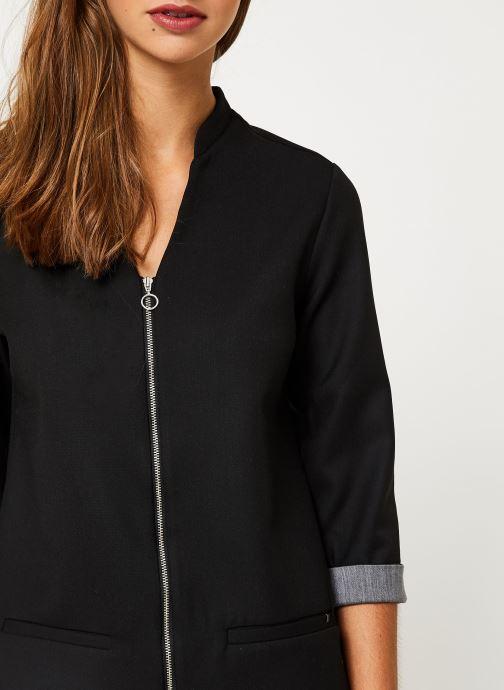 Vêtements I.Code Robe Noire  Zipee QP30044 Noir vue face