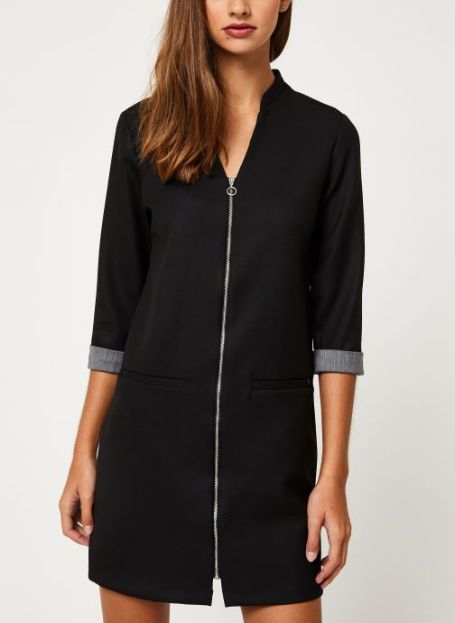 Vêtements I.Code Robe Noire  Zipee QP30044 Noir vue détail/paire