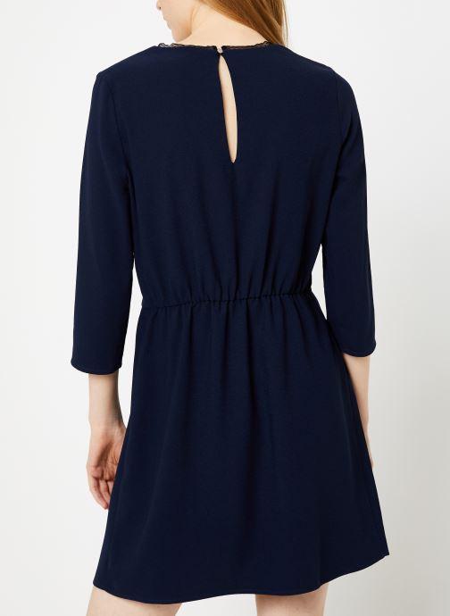Vêtements I.Code Robe Nœud QP30154 Bleu vue portées chaussures