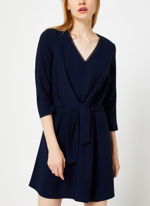Vêtements I.Code Robe Nœud QP30154 Bleu vue droite