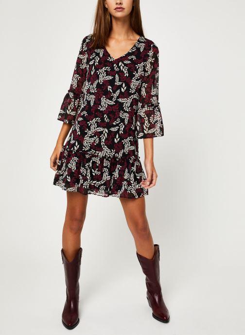 Vêtements I.Code Robe Feuillage QP30164 Marron vue bas / vue portée sac