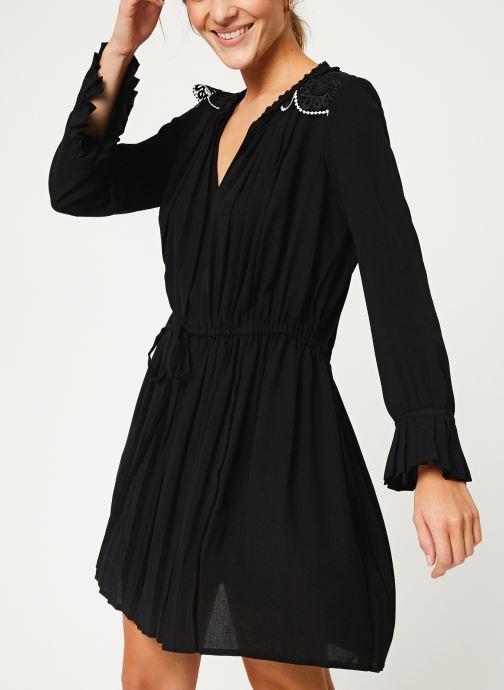 Vêtements I.Code Robe ML Plissee QP30214 Noir vue droite