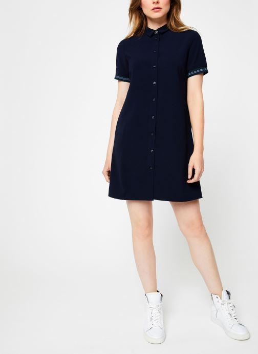 Vêtements I.Code Robe Chemise Dos Plisse QP30234 Bleu vue bas / vue portée sac
