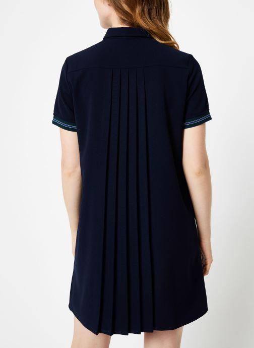 Vêtements I.Code Robe Chemise Dos Plisse QP30234 Bleu vue portées chaussures