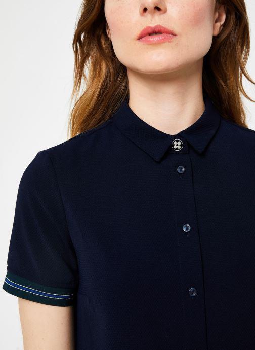 Vêtements I.Code Robe Chemise Dos Plisse QP30234 Bleu vue face