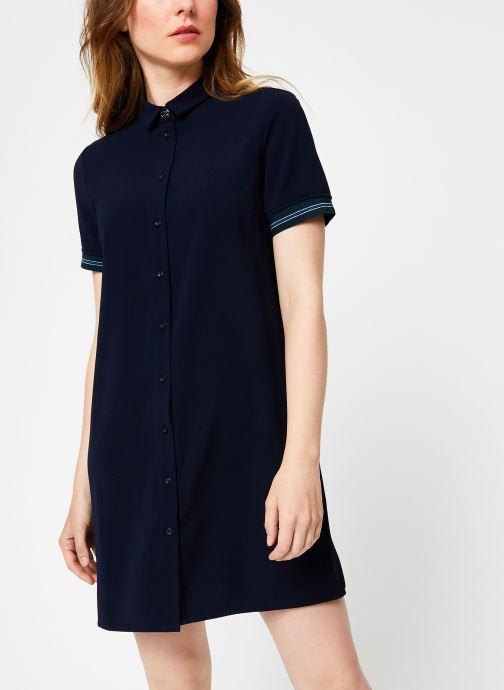 Vêtements I.Code Robe Chemise Dos Plisse QP30234 Bleu vue droite