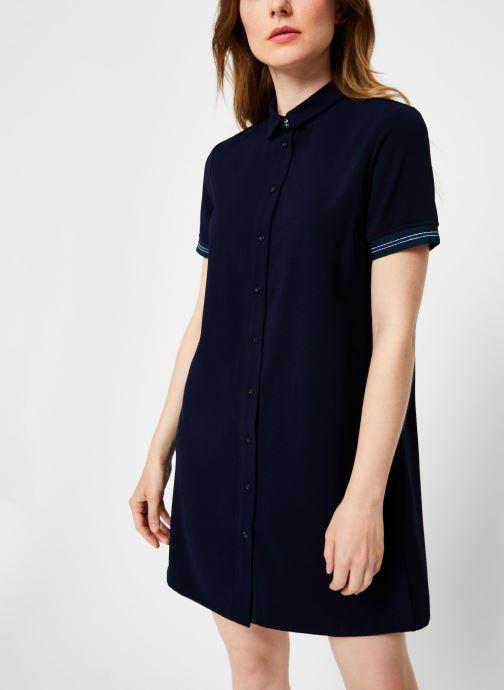 Vêtements I.Code Robe Chemise Dos Plisse QP30234 Bleu vue détail/paire